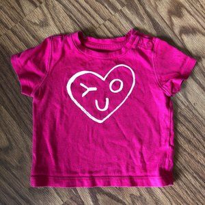 Pink Heart You Shirt From Baby Gap